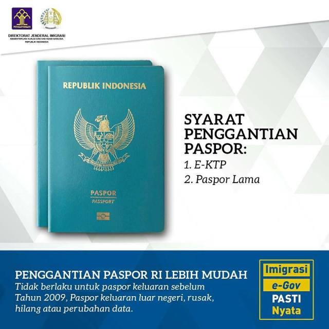 syarat ganti paspor
